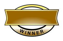 Graphisme de courroie de gagnant Images stock