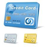 graphisme de crédit de carte Photos libres de droits
