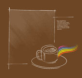 Graphisme de cuvette de café, disposition de page illustration stock