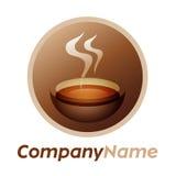 Graphisme de cuvette de thé et conception de logo Photographie stock