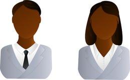 Graphisme de deux utilisateurs - homme et femme africains Images libres de droits