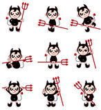 Graphisme de diable de dessin animé Image stock