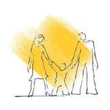 Graphisme de famille, silhouette Illustration Libre de Droits