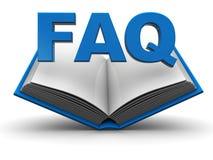 Graphisme de FAQ Images libres de droits