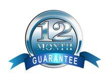 graphisme de garantie de 12 mois illustration libre de droits
