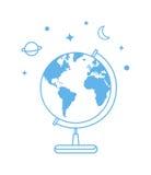 Graphisme de globe de vecteur Photos libres de droits
