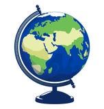 Graphisme de globe de vecteur D'isolement sur le fond blanc Image libre de droits