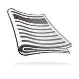Graphisme de journal Photo stock