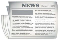 Graphisme de journal de vecteur Photos stock