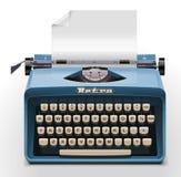 Graphisme de la machine à écrire XXL de vecteur Images stock