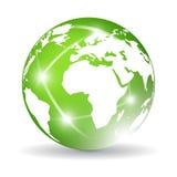 Graphisme de la terre verte Image libre de droits