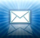 Graphisme de lettre d'email Photo libre de droits