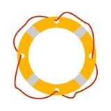Graphisme de Lifebuoy Équipement de tourisme Éléments de Web de voyage de bateau Photographie stock
