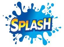 Graphisme de logo de baisse de l'eau d'éclaboussure Photo libre de droits