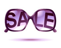 Graphisme de lunettes de soleil de vente Photo stock