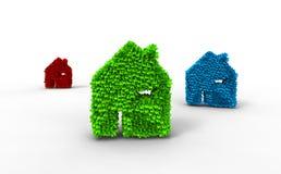 Graphisme de maison d'écologie de couleur Photo libre de droits