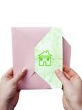 Graphisme de maison verte Photo libre de droits