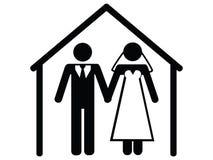 Graphisme de mariage Image libre de droits