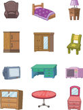 Graphisme de meubles de dessin animé Photo stock