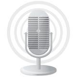 Graphisme de microphone Images libres de droits