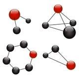 Graphisme de molécule illustration stock
