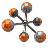 Graphisme de molécule Photo libre de droits