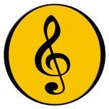 Graphisme de musique Photos libres de droits