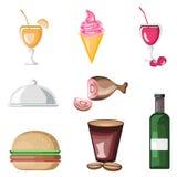 Graphisme de nourriture Photographie stock libre de droits