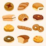 Graphisme de pain de dessin animé illustration de vecteur