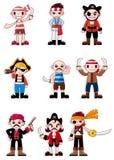 Graphisme de pirate de dessin animé Images libres de droits