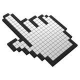 graphisme de Pixel de la main 3d illustration libre de droits