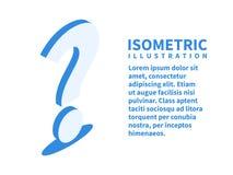 Graphisme de point d'interrogation Calibre isométrique pour le web design dans le style 3D plat Illustration de vecteur image libre de droits
