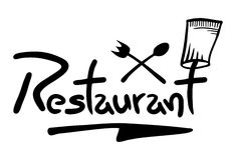 Graphisme de restaurant Photo stock
