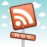 Graphisme de RSS Images stock