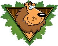Graphisme de safari de lion Images stock