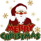 Graphisme de Santa Photo libre de droits