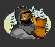 Graphisme de skieur Photo libre de droits