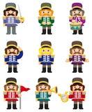 Graphisme de soldats de jouet de dessin animé illustration stock