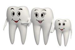 graphisme de sourire de famille de la dent 3d - d'isolement Images libres de droits