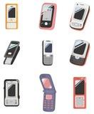 Graphisme de téléphone portable de dessin animé Images stock