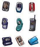 Graphisme de téléphone portable de dessin animé Image libre de droits