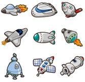 Graphisme de vaisseau spatial de dessin animé illustration de vecteur