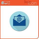 Graphisme de vecteur sur le fond blanc Tendance de concepteur Courrier d'icône d'email nouveau Bouton pour la communication Image stock