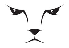Graphisme de visage de chat Photo stock