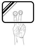 Graphisme de Web de vecteur. Surface adjacente d'écran tactile de main Images libres de droits