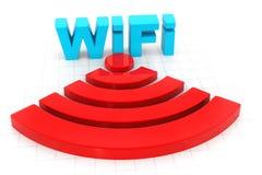 Graphisme de Wifi Photos stock