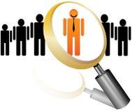 Graphisme des employés pour l'agence de recrutement Images libres de droits