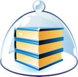 Graphisme des livres sous la cloche-glace illustration stock