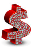 Graphisme du dollar de diamant Photos stock