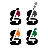 graphisme du logo 4g Image libre de droits